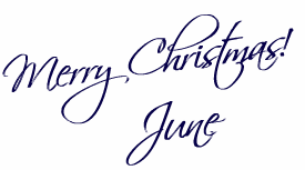 Junes Merry Christmas Signature Image
