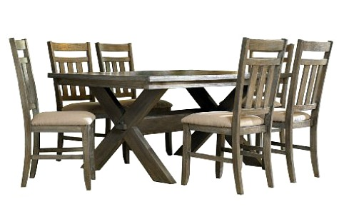 Vintage Style Farmhouse Dining Table Set Image