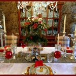 Traditional Christmas Tablescape Idea