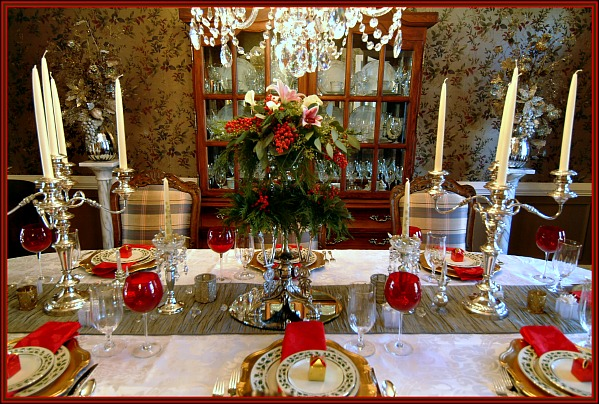 A Traditional Tablescape Using Lenox Holly Berry Fine China