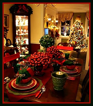 Traditional Tablescape for Christmas Image