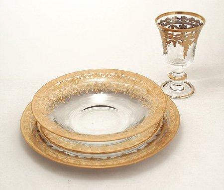 Arte Italica Four Vetro Gold Dinnerware