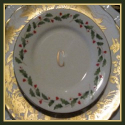 Lenox Holiday Berry 24k Gold Banded China