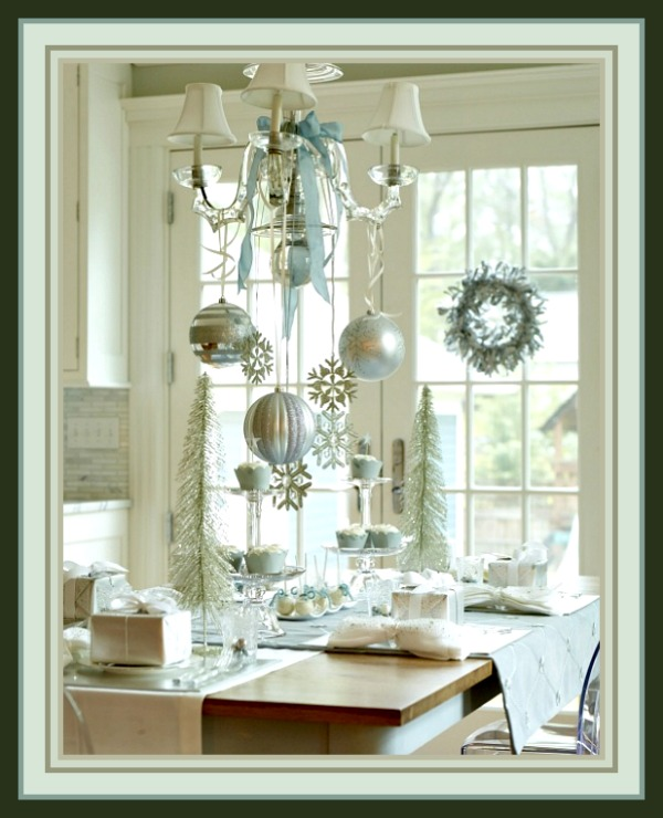 Snowflakes Hanging from the Chandelier Image