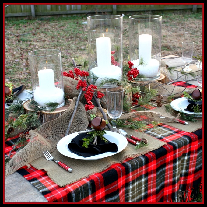 Simple Country Christmas Tablescape Image