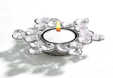 Sparkle Crystal Snowflake Tea Light Holder