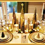Gold Christmas Tree Tablescape Design Idea