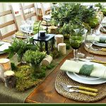 Woodsy Rustic Table Setting on a Christmas Tablescape
