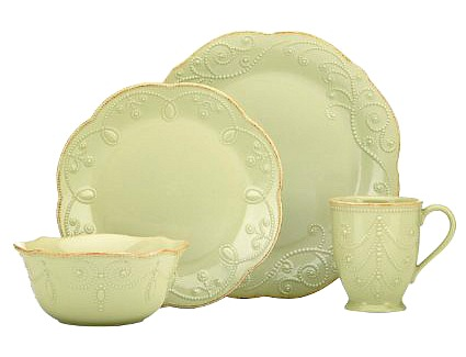 Lenox French Perle Pistachio 4-Piece Place Setting