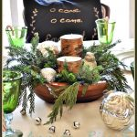 Rustic Christmas Tablescape Idea