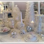White Shabby Chic Christmas Tablescape