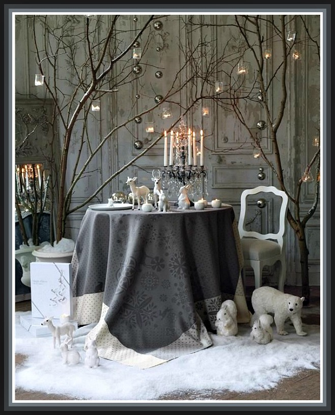 White Christmas Table Decor