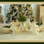 Vintage White Christmas Tablescape Tea for Two Luncheon