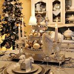 Elegant Coastal Seashell Christmas Table Setting