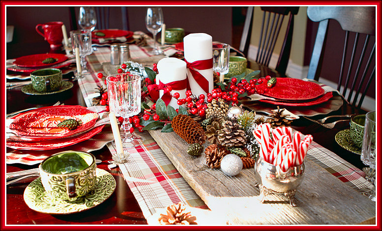 A Rustic Christmas Breakfast Tablescape