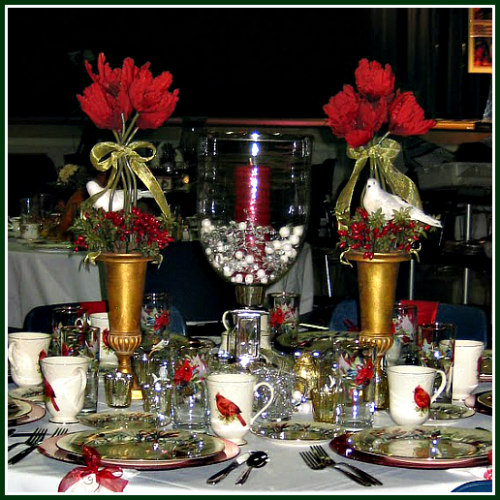 Winter Greeting Tablescape