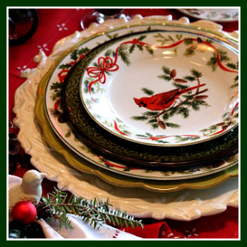 Winter Greetings Layered Place Setting