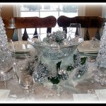 Silver and Crystal Tablescape