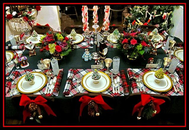 plaid christmas tablescape
