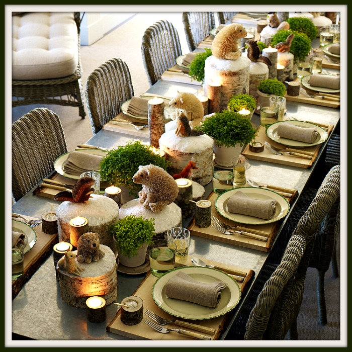 Rustic Woodland Tablescape