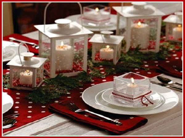 We Love Lanterns | Simple White Lantern Christmas Tablescape